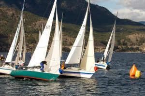 Photo of Women's Santana 525 races Kelowna Vernon Okanagan BC