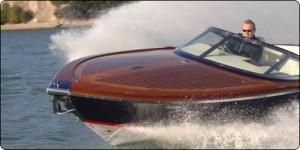 Absolute Classic Marine Boat making wake