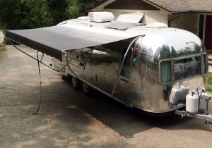 Andrew Spelchan's Distinctive Uphostery Airstream for teh 2016 Boat and Leisure Show