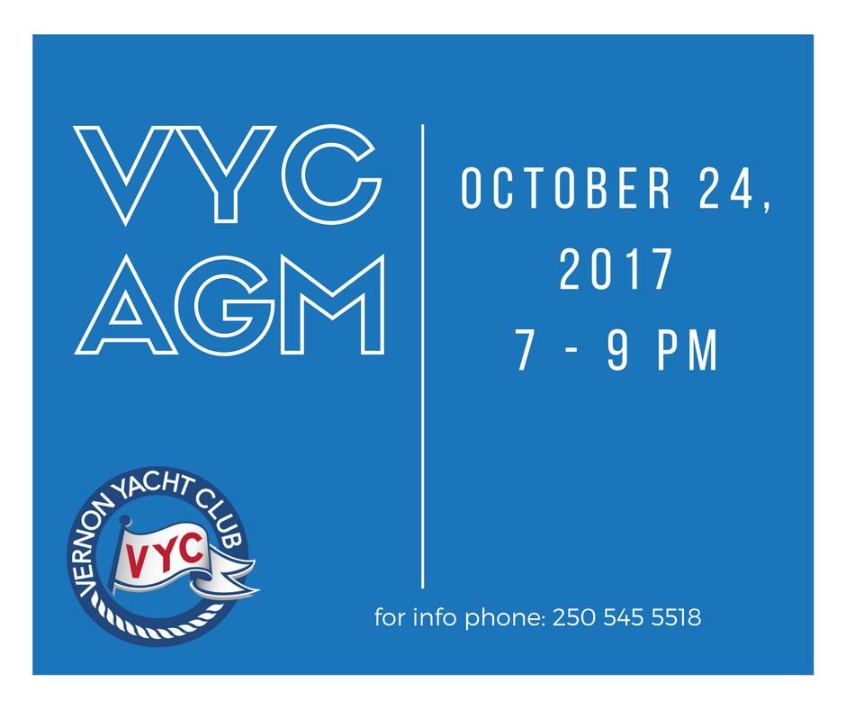2017 VYC AGM @ Vernon Yacht Club