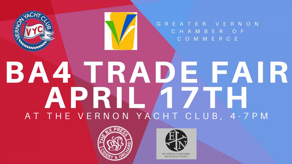 VYC & GVCC BA4 TRADE FAIR @ Vernon Yacht Club   Vernon   British Columbia   Canada