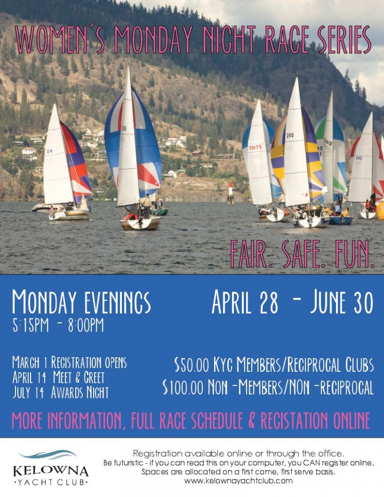 Monday Night Racing for Okanagan Women.