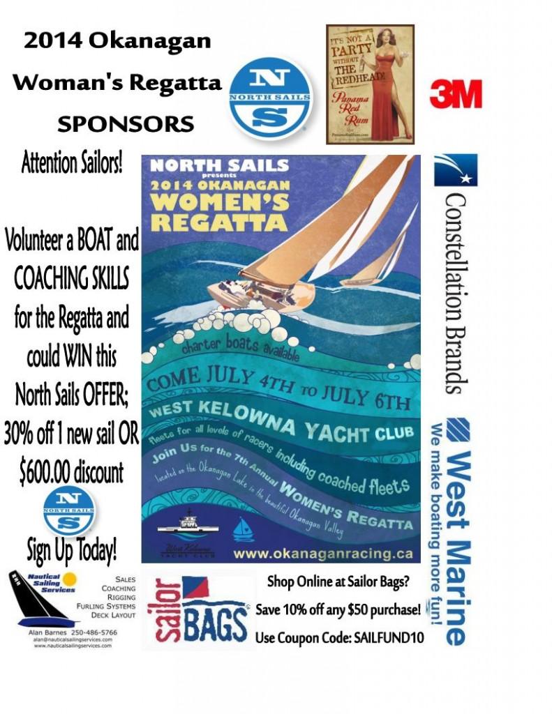 The 2014 Okanagan Women's Regatta In West Kelowna Yacht Club,  July 4th - 6th!