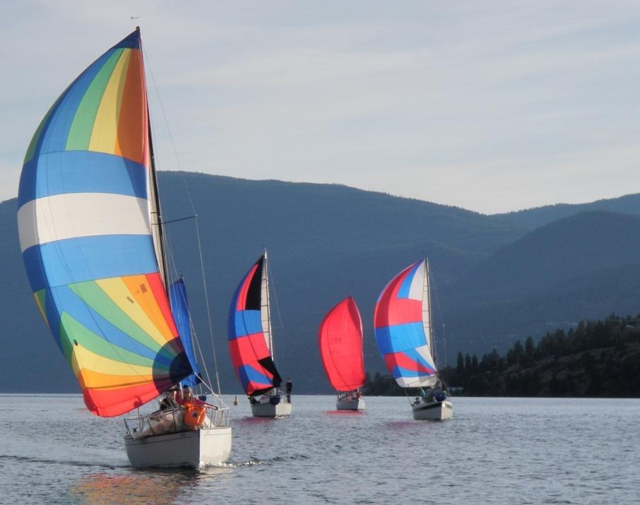 Vernon Yacht Club Picture Sailboats by Dagmar Mrazek