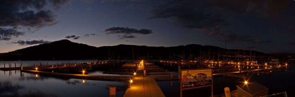 Night Time Panorama of the VYC Marina