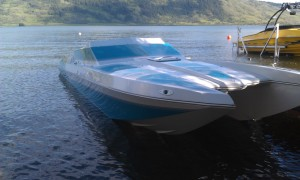 Phto of Fast Boat Featured Display' at VYC Boat Show
