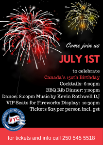 July 1st VYC Canada Day event